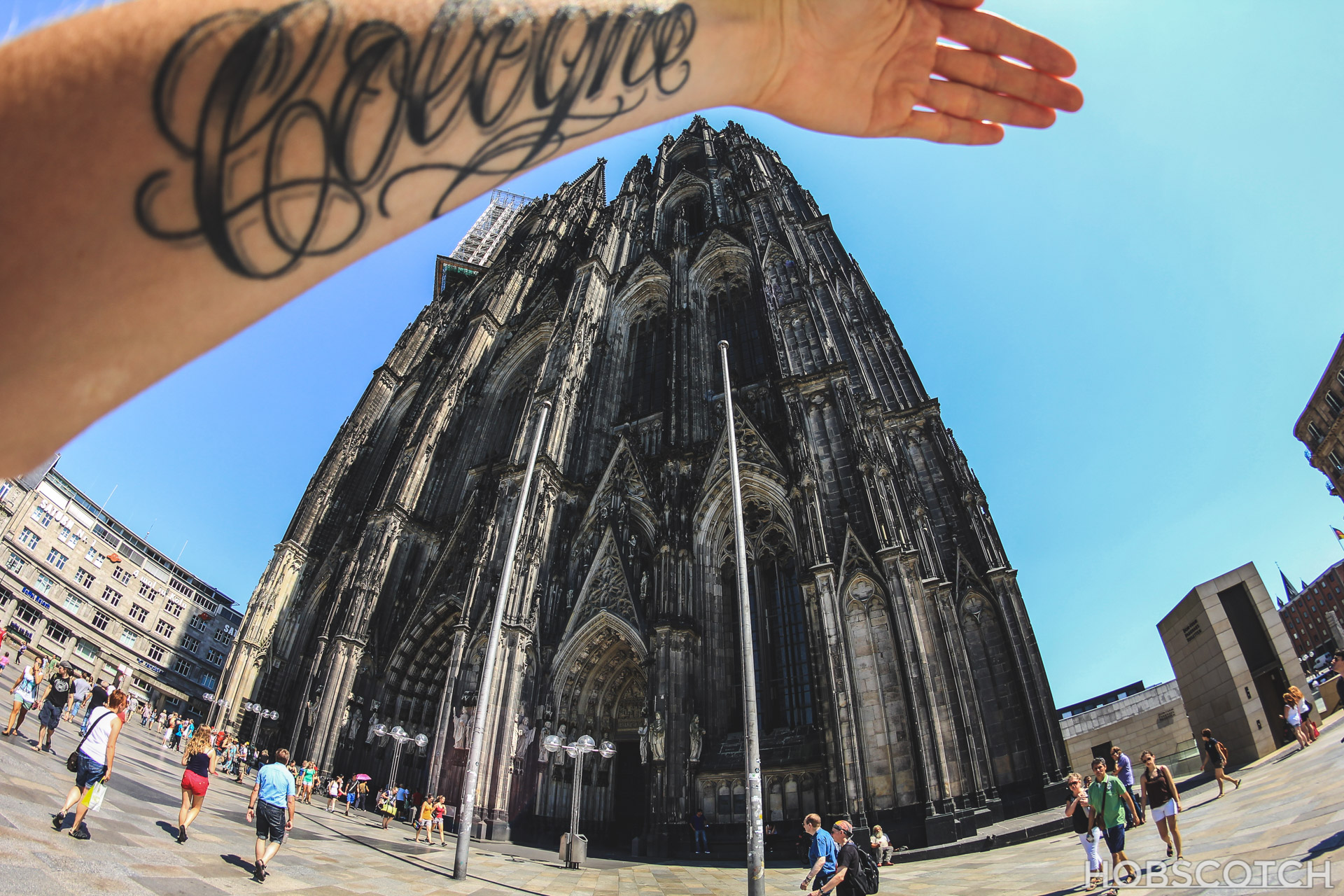 Fisheye - Mein Tattoo und der Kölner Dom